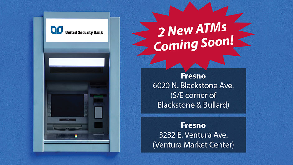 ATM's coming soon no Member FDIC